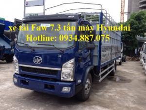 bán xe tải faw động cơ hyundai 7.3 tấn - 7t3...