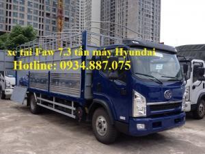 bán xe tải faw 7.3 tấn - 7t3 - 7T3 động cơ Hyundai D4DB thùng dài 6.25 mét