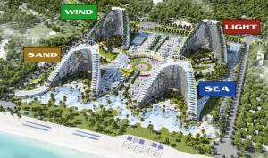 Bán căn hộ 36m2, tòa Sand The Arena Cam Ranh, View Biển, full đồ