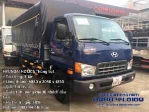 Hyundai HD120S thùng bạt 8 tấn