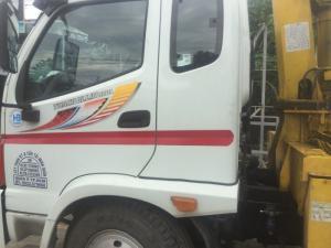 Xe cũ thaco olin 800b đời 2016 gắn cẩu sosan 3t5 3 khúc