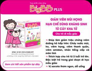 BigBB Plus giúp giảm tình trạng viêm đường hô hấp trên ở trẻ