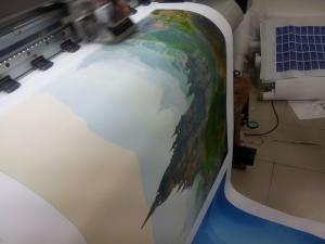 In trên vải canvas với mực nước, cho màu sắc trung thực