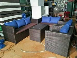 Sofa giả mây giá rẻ tại xưởng.