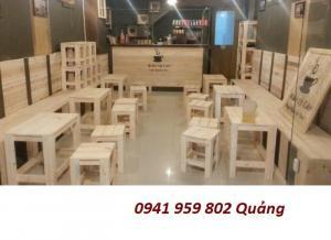 bàn ghế gỗ cóc cho quán cafe