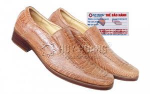 Giày nam da đà điểu Huy Hoàng màu vàng MH7403