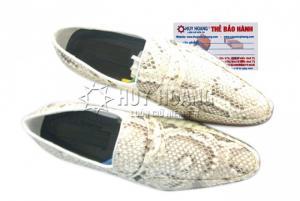 Giày nam da trăn Huy Hoàng màu trắng MH7301