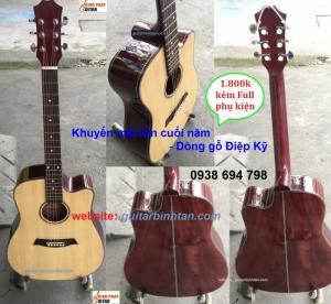 Khuyến mãi Guitar acoustic GỖ ĐIỆP KỸ