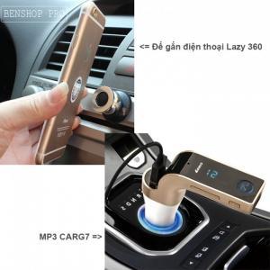 Com bo kẹp điện thoại lazy 360 và MP3 CarG7 cho ô tô
