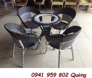 Bàn ghế cafe - mây nhựa giá rẻ