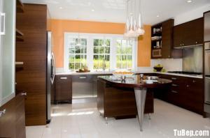 Tủ bếp Laminate vân gỗ phong cách hiện đại sang trọng
