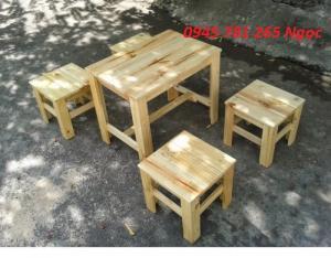 Bàn ghế cafe - bàn ghế gỗ giá rẻ