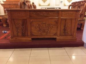 Bàn làm việc cổ điển chạm đẹp gỗ gõ đỏ 1,76m-BLV05
