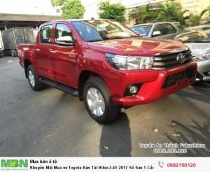 Khuyến Mãi Mua xe Toyota Bán Tải Hilux 2.4E 2018 Số Sàn 1 Cầu Màu Đỏ Nhập Thái Lan. Mua Trả Góp Chỉ 170Tr