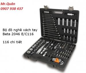 Bộ dụng cụ xách tay 116 chi tiết Model: 2046 E/C116 Thương hiệu - xuất xứ: BETA - Italy Nguyễn Mạnh Quân  (Mr.) Sales Department HP: 0907 938 437