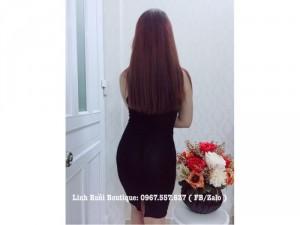 Đầm đen body ôm dáng chuẩn