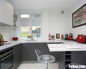 Tủ bếp gỗ Laminate thiết kế chữ U phù hợp không gian hẹp – TBT58