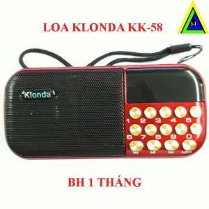 Máy nghe nhạc đa năng USB, thẻ nhớ, đài FM Klonda KK-58