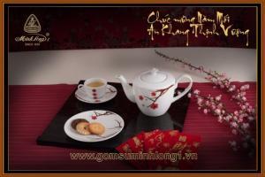Bộ trà 0.65L gốm sứ Minh Long I