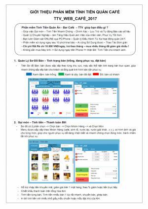 Phần mềm Tính Tiền Quán Ăn – Quán Cafe
