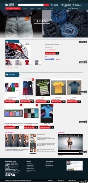 Thiết kế website thời trang nam theo nhu cầu