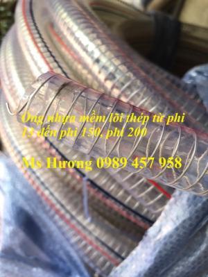 Ống nhựa mềm lõi thép phi 13, D13, D16, D19, D25, D27, D34, D42, D50, D60, D75, D90, D100, D120...