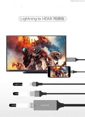 Cáp chuyển đổi Lightning ra HDMI TV Chính hãng Usams