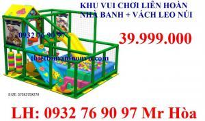 Tổ hợp nhà vui chơi liên hoàn dành cho bé