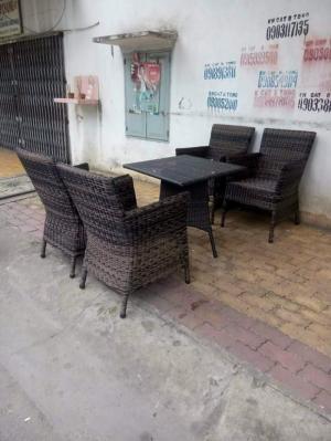 bàn ghế cafe mây nhựa ngoài trời cao cấp giá rẻ