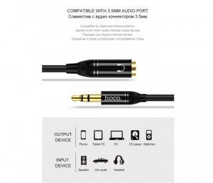 Cáp chia 2 cổng Audio chuẩn 3.5mm Hoco UPA06 - MSN388290