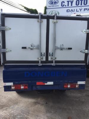 Dongben thùng kèo bạt 810kg, xe có sẵn theo lô