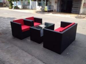 Bàn ghế,sofa nhựa giả mây, ô dù, xích đu dùng cho các công trình quán : cafê,nhà hàng