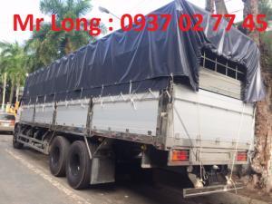 xe tải HINO FL thùng ngắn , xe HINO 3 chân thùng mui bạt , xe tải HINO 15 tấn đóng thùng mui bạt bửng nhôm , xe HINO FL8JTSA mui bạt bửng nhôm , giảm giá xe HINO 15 tấn