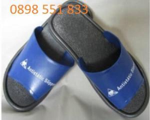 Dép chống tĩnh điện PVC Xanh đen phòng sạch