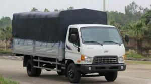 Xe tải 3T5 Hyundai HD72 thùng mui bạt, dài 4m9