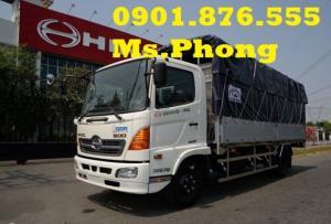 Bán xe tải Hino 6 tấn/6T thùng bạt giá tốt –...