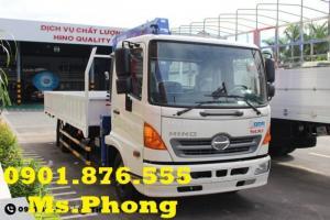 Bán xe tải Hino 4T7/ giá xe tải hino 4t7  gắn cẩu, giao ngay, hỗ trợ vay 95%