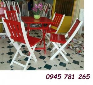 Ghế gỗ xếp cho quán trà sữa xinh yêu