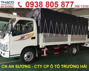 Xe tải Thaco Ollin 500B Tải 5 tấn Thùng mui bạt, Thùng Kín 2017 giá tốt giảm giá