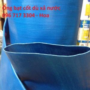 Ống bạt cốt dù Phi 200, Ống bạt nhựa xanh bơm nước D200