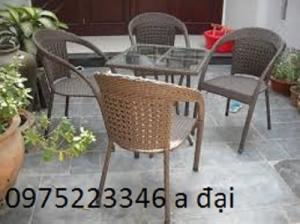 Cần bán 500 ghế cafe nhựa giả mây giá rẻ , hàng tồn kho tại TP.HCM