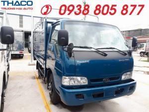 Kia Frontier K165 tải 2400kg thùng dài 3,5m, xe tải Kia K165 thùng kín,thùng mui bạt