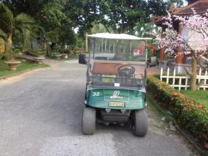 Xe điện du lịch tại khu sinh thái Núi Ngăm