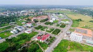 Đất thổ cư đối dện bến xe, trung tâm thương mại thị trấn Thủ Thừa