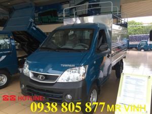 Xe Tải 990 Kg Thaco Towner 990 thùng mui bạt, máy xăng động cơ Suzuki, bán trả góp giá tốt lấy xe ngay