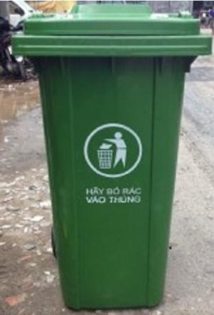 Thùng rác 120 lít thùng rác 240 lít dùng trong nhà hàng khách sạn y tế
