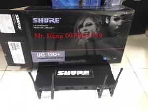 Micro không dây Shure UG12D+ 4 ăng ten sóng khỏe chuyên nghiệp