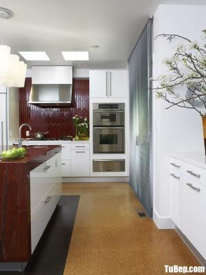 Tủ bếp gỗ Acrylic chữ L màu trắng sang trọng – TBT66