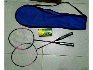 Bộ Vợt Cầu Lông Kubo ( 2 vợt +1 hộp cầu)