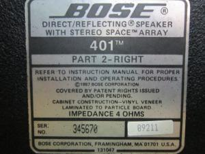 Loa Bose 401 (Made In Usa)